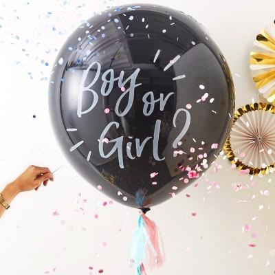 KIT DE REVELAÇÃO BEBÉ - BALÃO BOY OR GIRL?