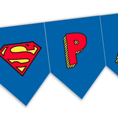Bandeirola Super Homem