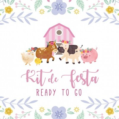 Kit de Festa READY TO GO - ANIMAIS DA QUINTA