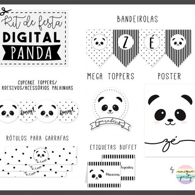 Kit DIGITAL - READY TO PRINT - PANDA