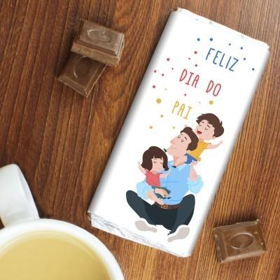 CHOCOLATE DIA DO PAI com 2 FILHOS
