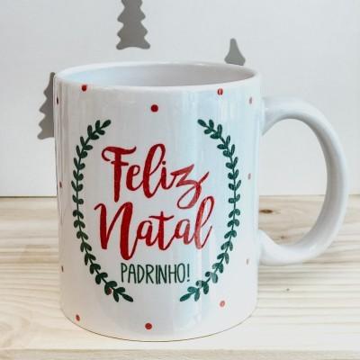 CANECA NATAL MADRINHA / PADRINHO