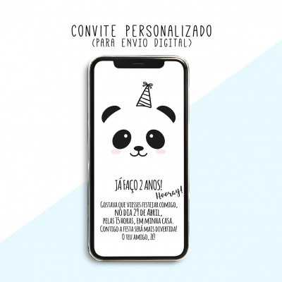 CONVITE DIGITAL - READY TO PRINT - PANDA