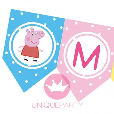 Bandeira de festa PEPPA PIG