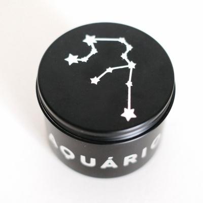 Vela do Zodíaco - Signo Aquário com cristal Turquesa