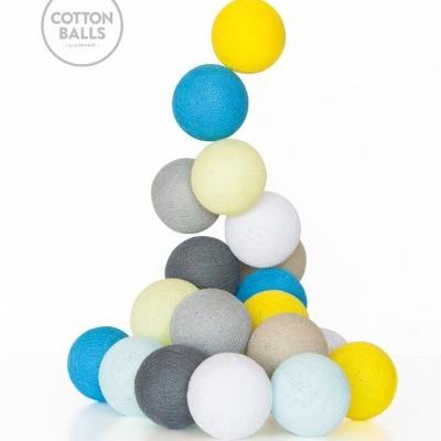 GRINALDA COTTON BALLS SunnyTurquoises 20 BOLAS
