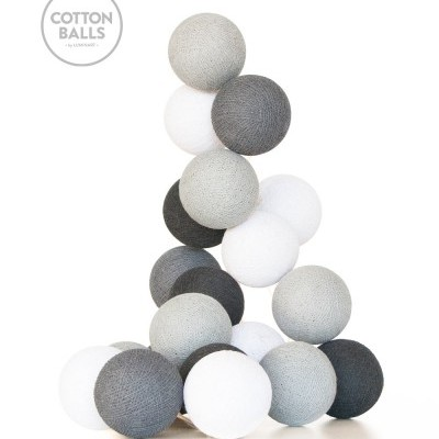GRINALDA COTTON BALLS GREY SHADOWS 10 BOLAS