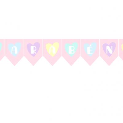 Bandeira de Festa Chuva de amor