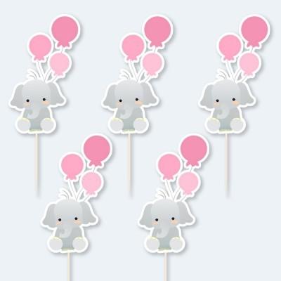 Topos de bolo - Elefante  IT'S A GIRL