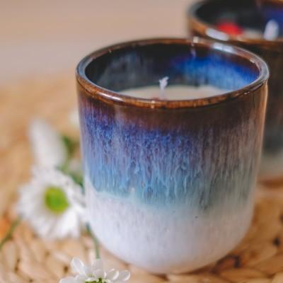 Vela artesanal Perfumada em copo