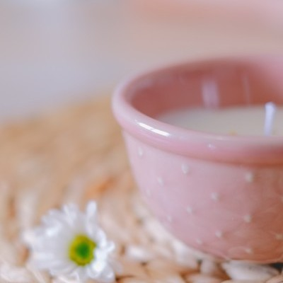 Vela artesanal Perfumada em taça