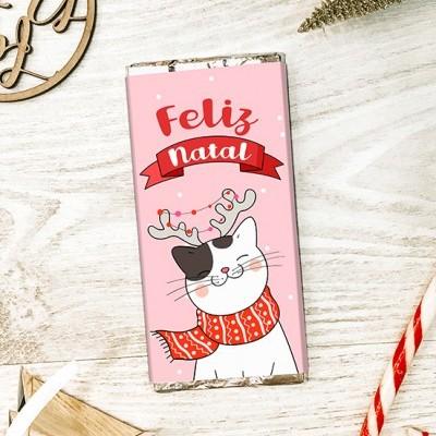CHOCOLATE DE NATAL - FELIZ NATAL GATO