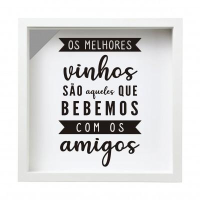 QUADRO DE ROLHAS / VINHOS - 27x27 cm