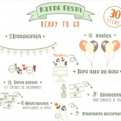 Kit de Festa READY TO GO - WOODLAND