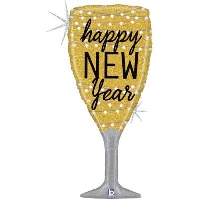 Balão Foil Happy New Year Flute