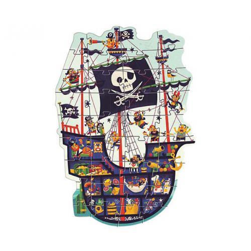 O Navio Pirata - Puzzle Gigante 36 Peças