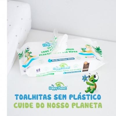 """Toalhitas Biodegradáveis """"My Happy Planet"""" - 60 toalhitas"""
