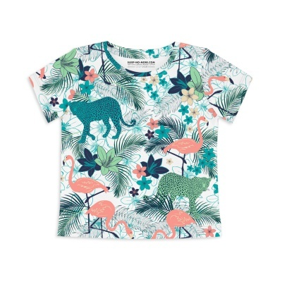 T-Shirt Manga Curta - Selva Tropical