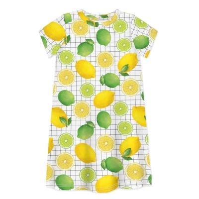 Vestido Manga Curta Sleep No More - Limões