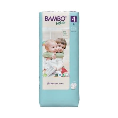 Fraldas Descartáveis Bambo Nature Tam. 4 (7-14 kg) - pack 48 fraldas