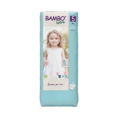 Fraldas Descartáveis Bambo Nature Tam. 5 (12-18 kg) - pack 44 fraldas