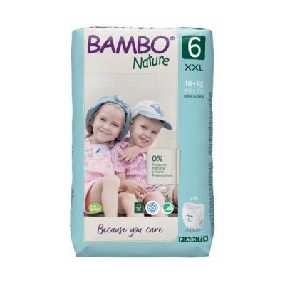 Fralda Cueca Descartáveis Bambo Nature Tam. 6 (+18kg) - pack 18 fraldas