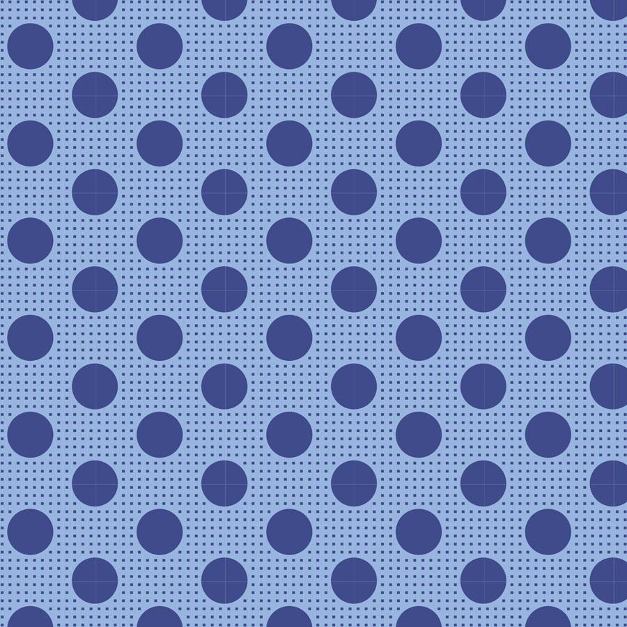 Classic Basics - Medium Dots Denim Blue
