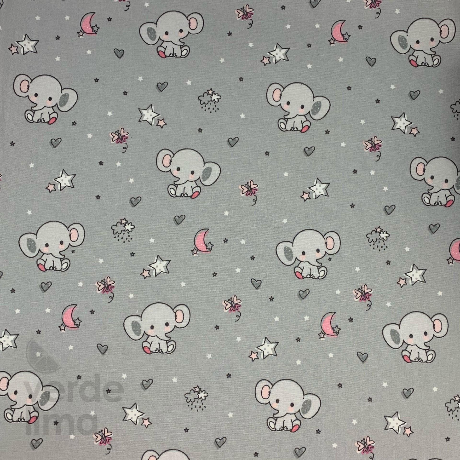 Sweet elephant  - Fundo Cinzento