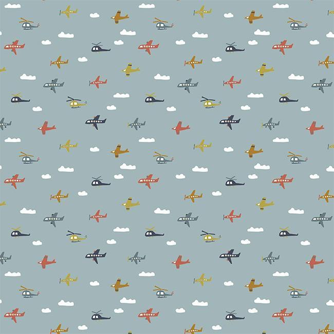 Fly with me - mini aviões azul água