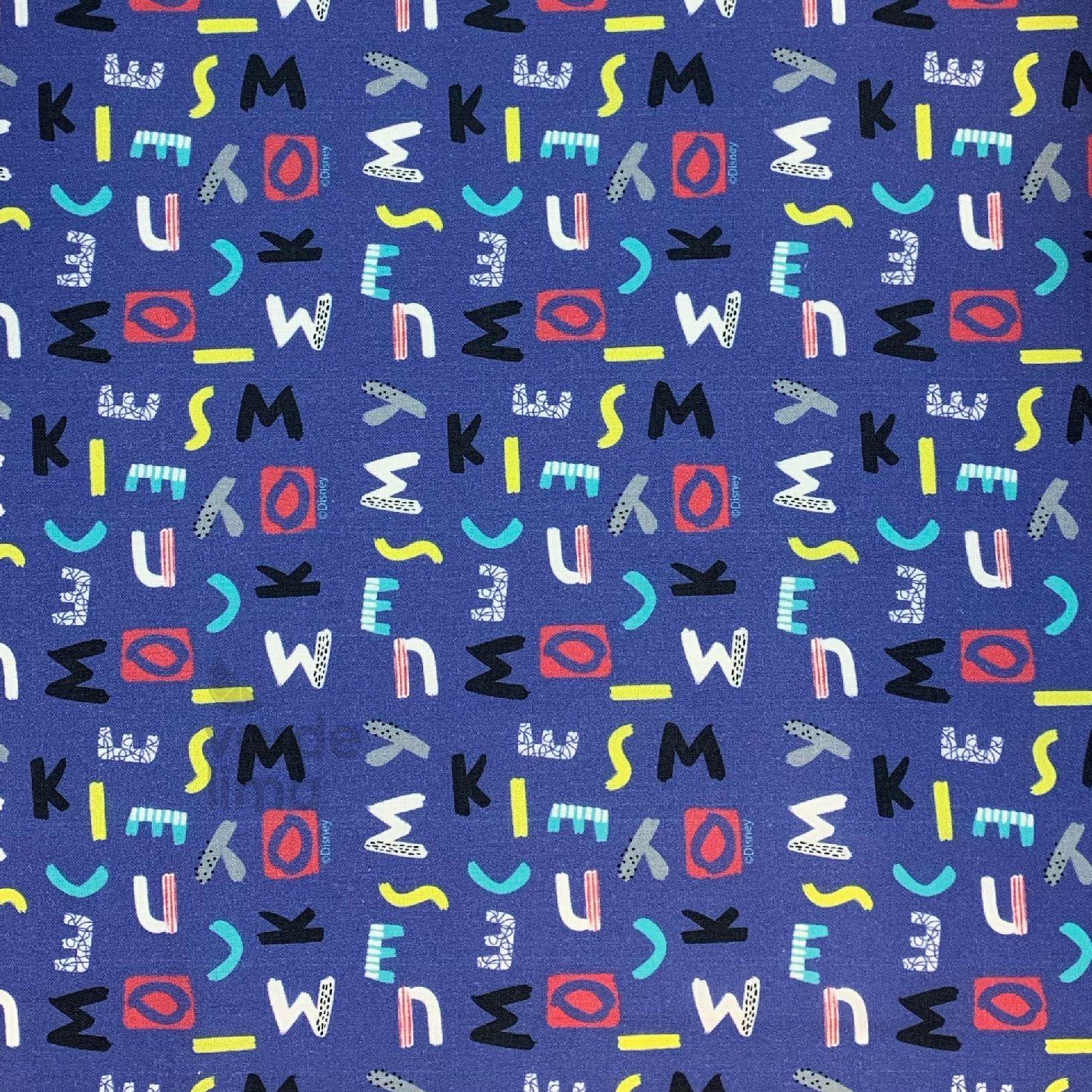 Mickey - Letras fundo azul