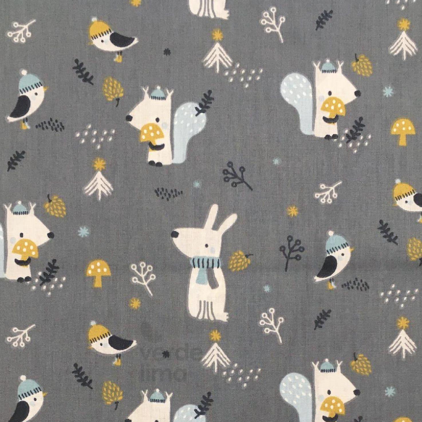 Winter fox - Squirrel and bird
