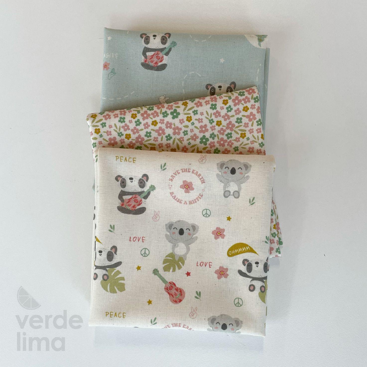 Pack de tecidos - Panda Hippie