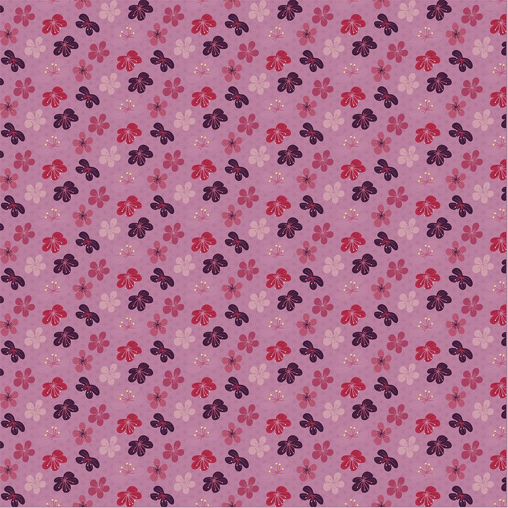 Oriental - Flores de cerejeira rosa