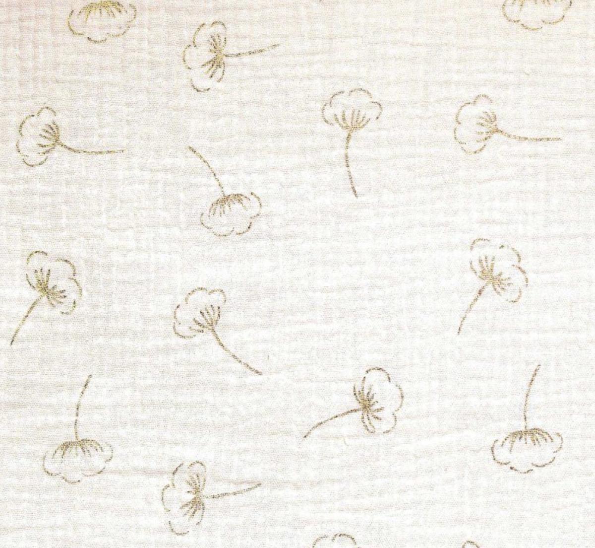Cotton Flower - Musselina (com Glitter)