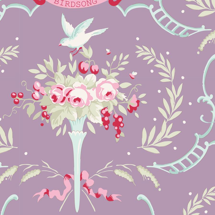 Tilda - Old Rose - Birdsong Mauve Lilac