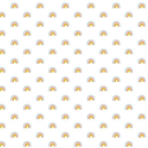 Cute Rabbit Rainbow - Branco