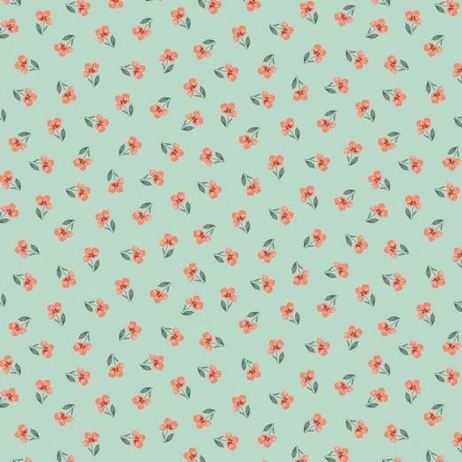 Algodão orgânico - Flower Mint