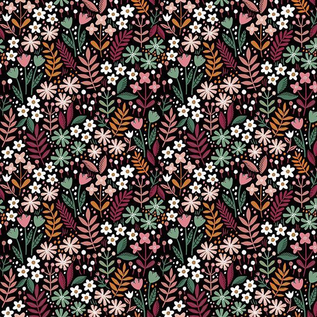 Flowers Field - Preto