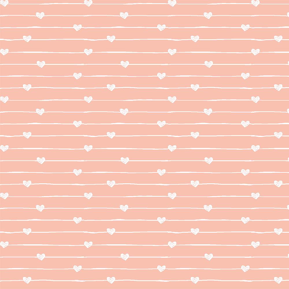 Teddy - Varal de corações rosa