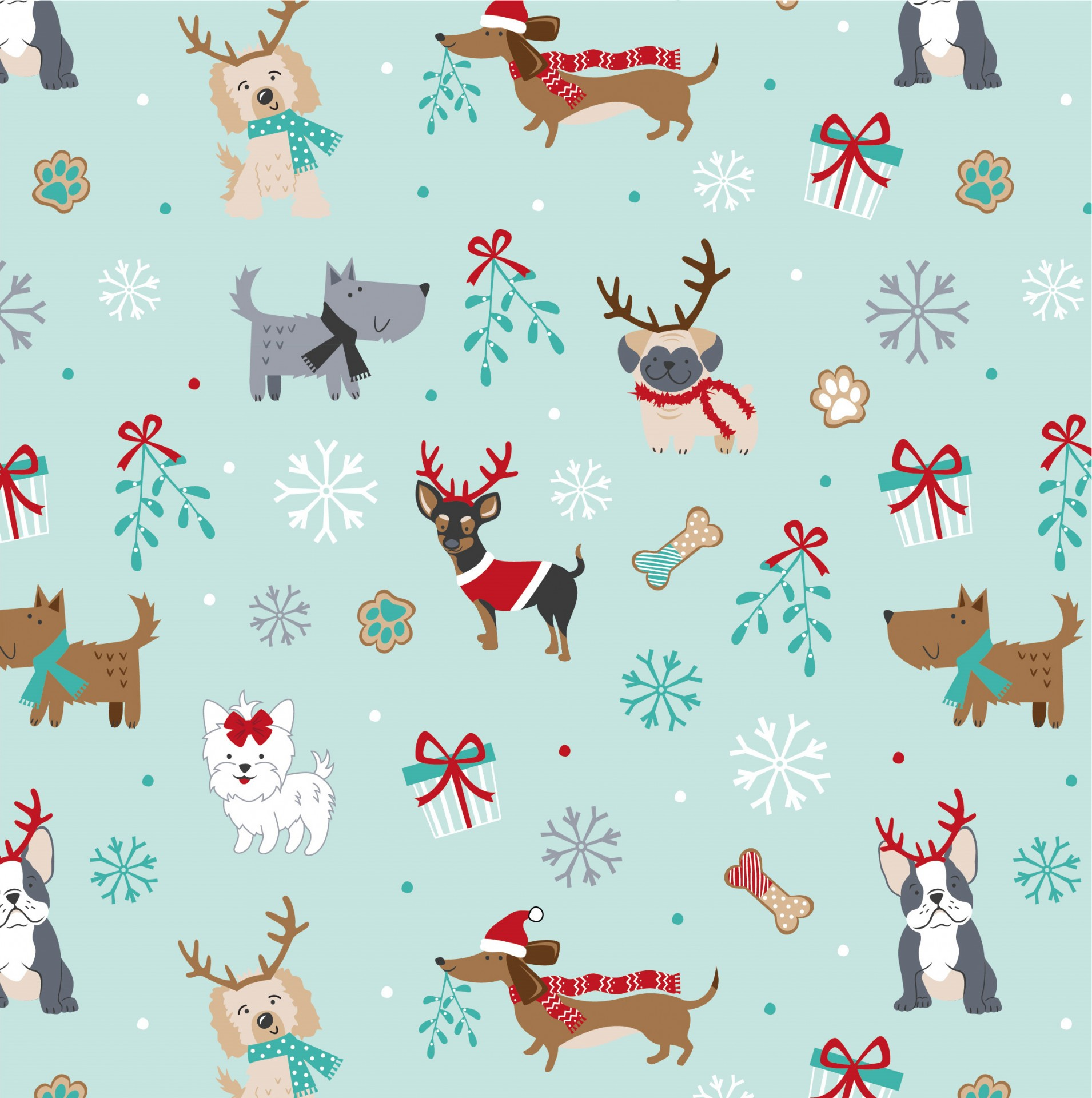 Freddie & Friends - Christmas dogs mint