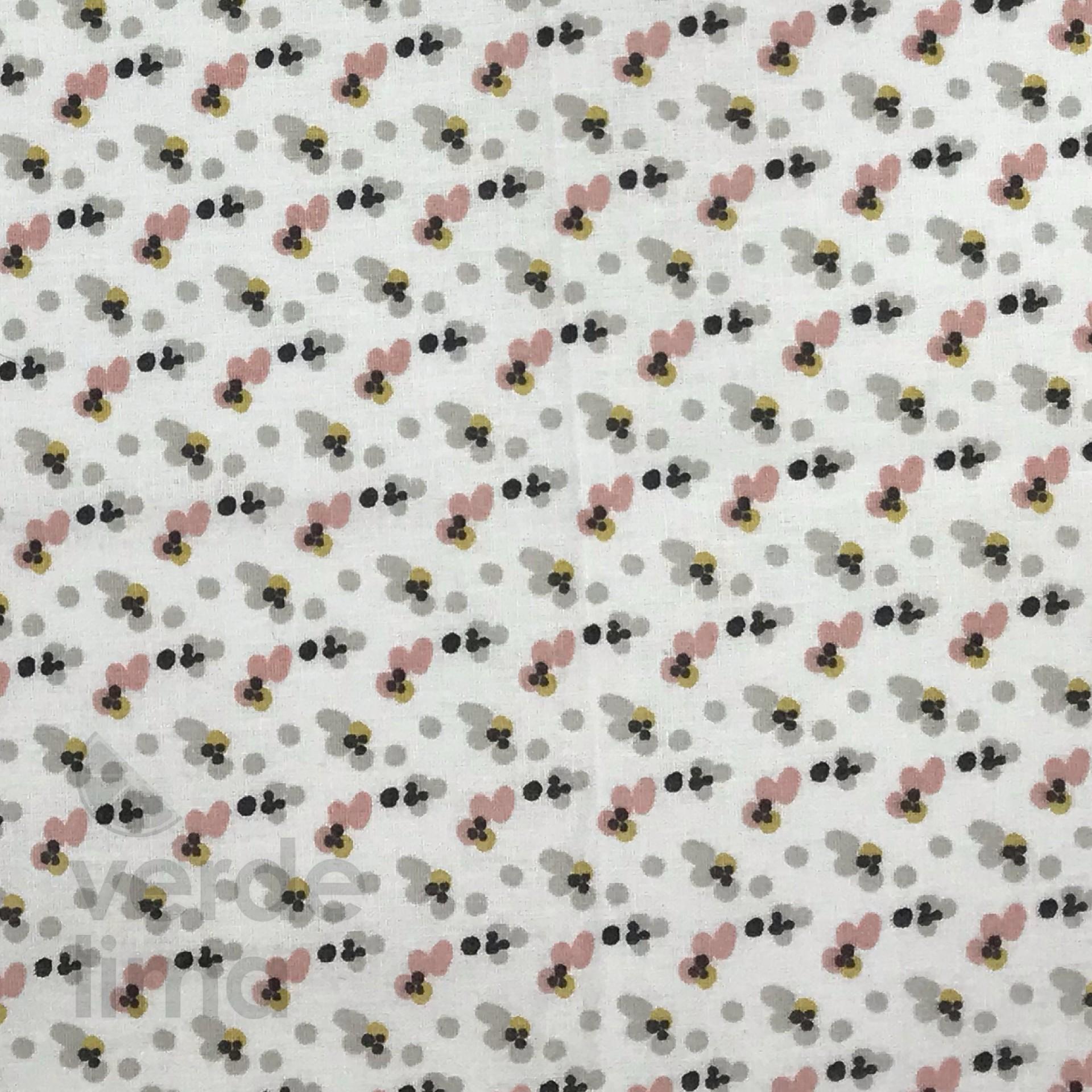 Princesa ratinha - Florinhas fundo branco