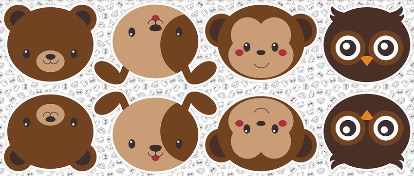 Pillows - Urso, cão, macaco e coruja
