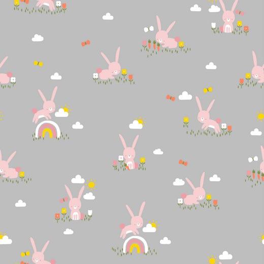Cute Rabbit - Cinzento
