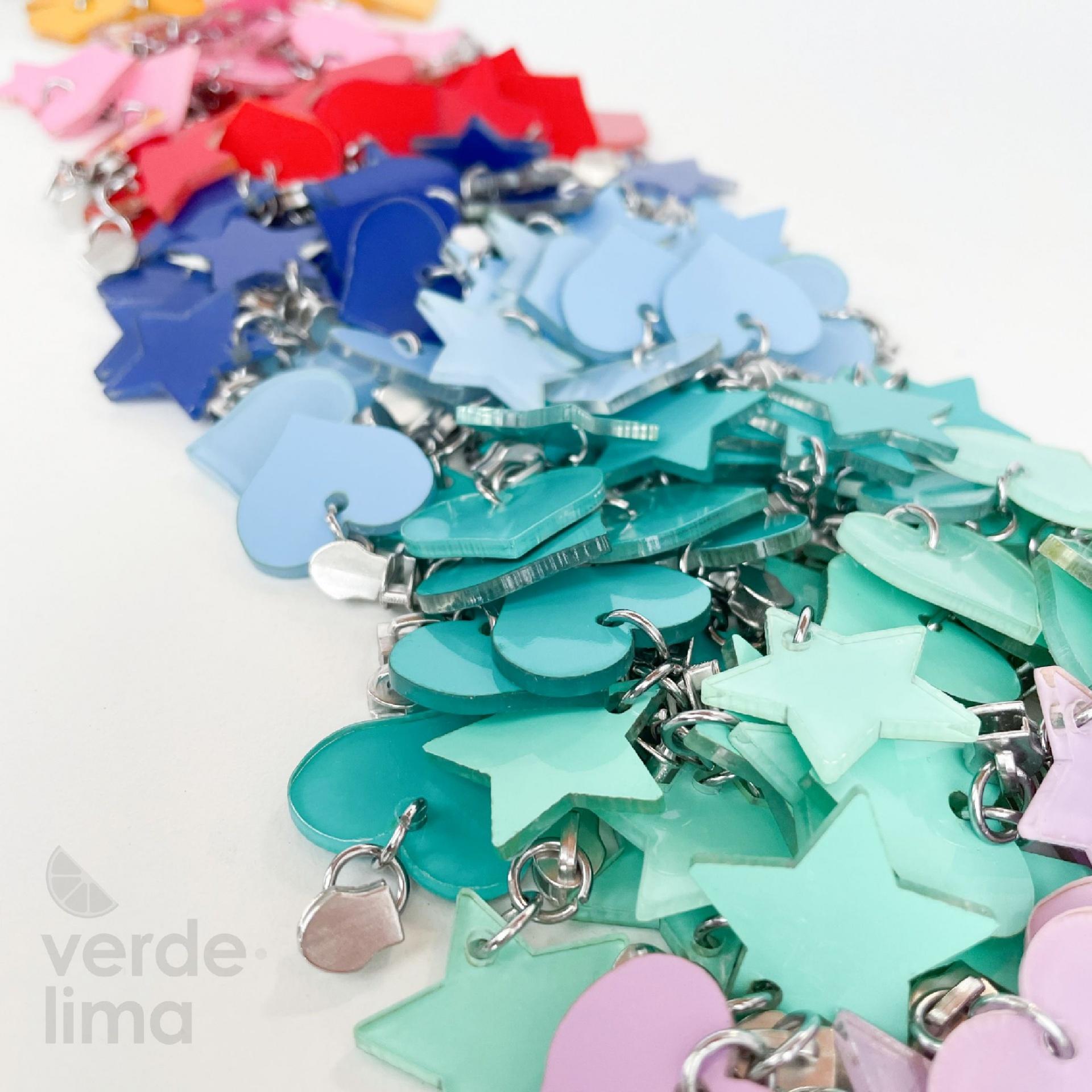 Cursores de fecho zipper malha 3 decorativos