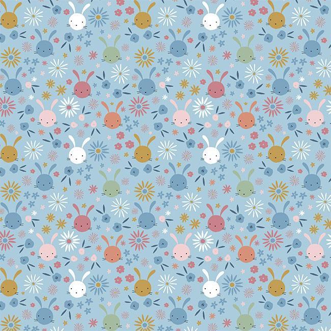 Sweet bunny heads - Azul Claro