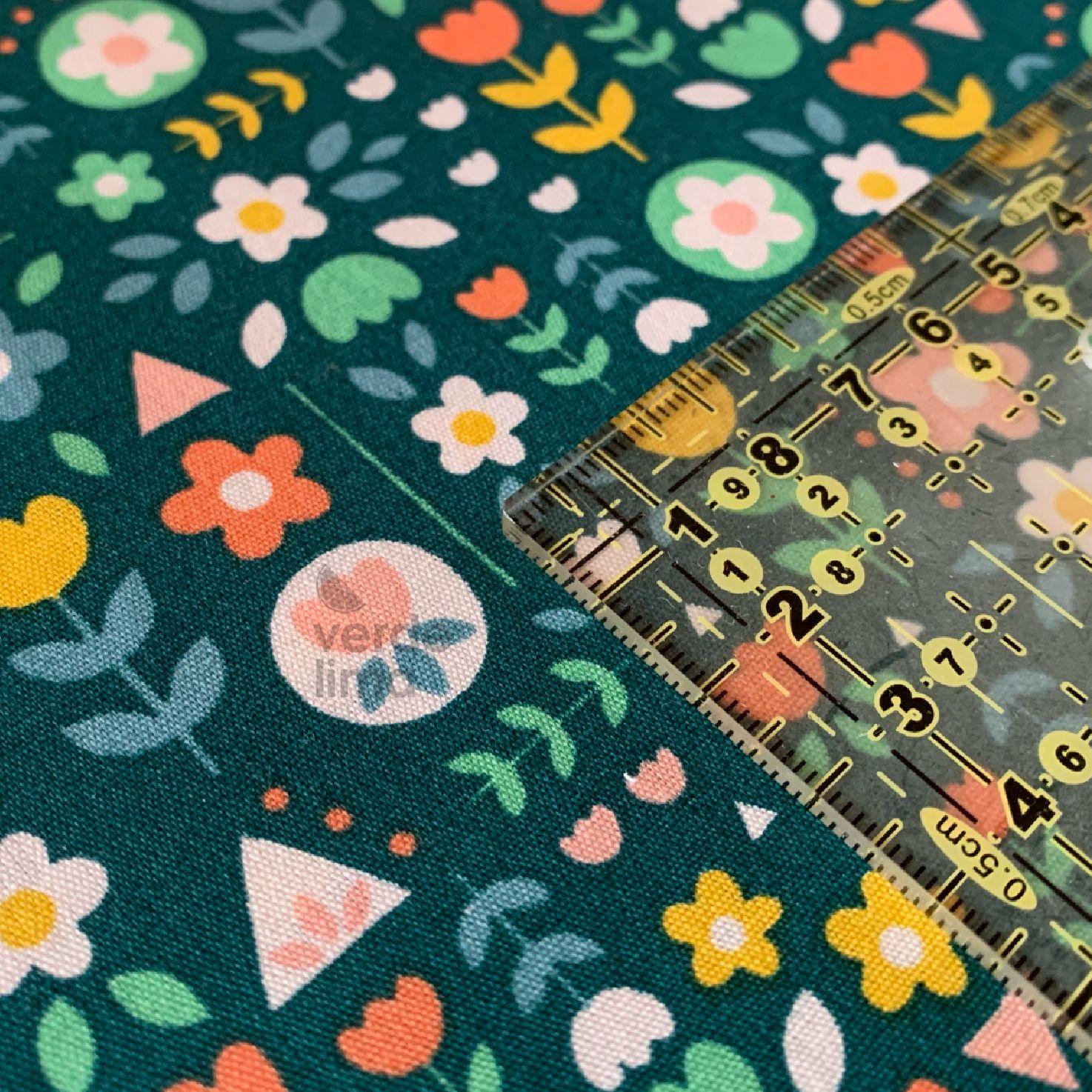 Happy feeling flores - fundo verde (plastificado)