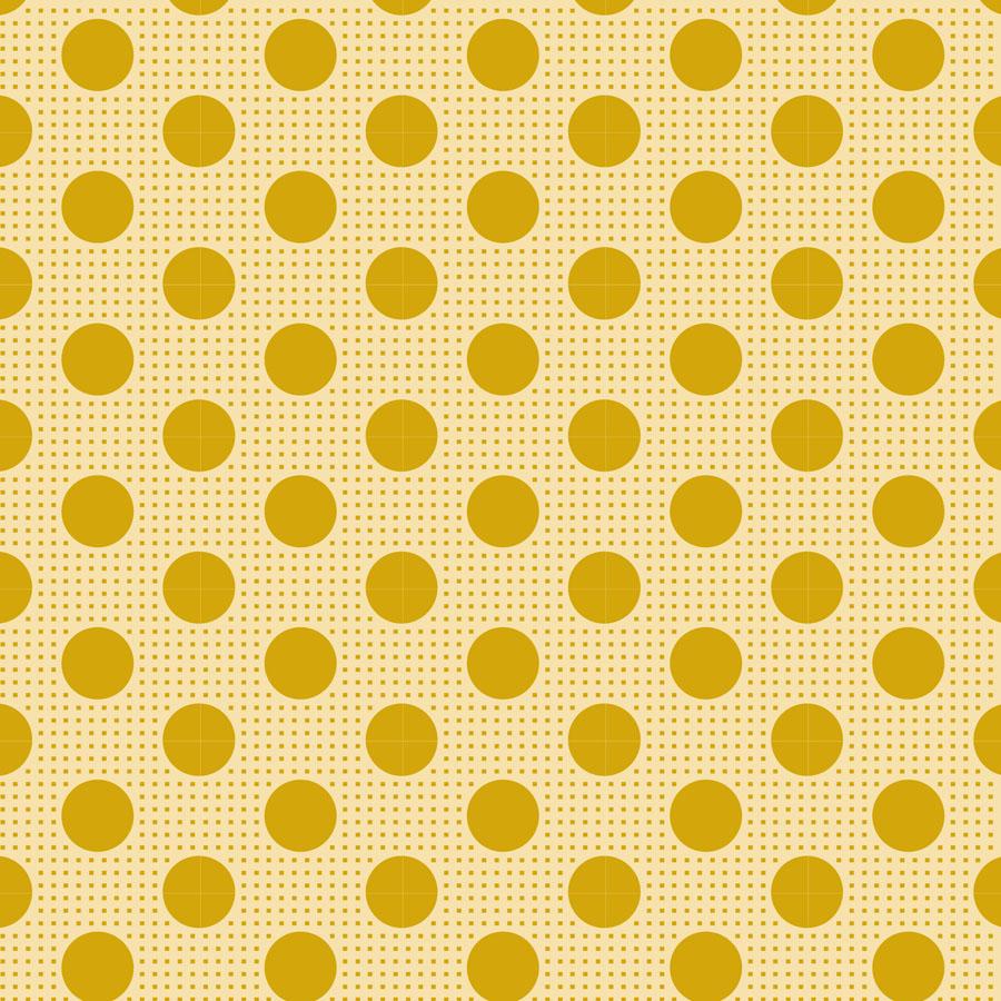 Classic Basics - Medium Dots Flaxen Yellow