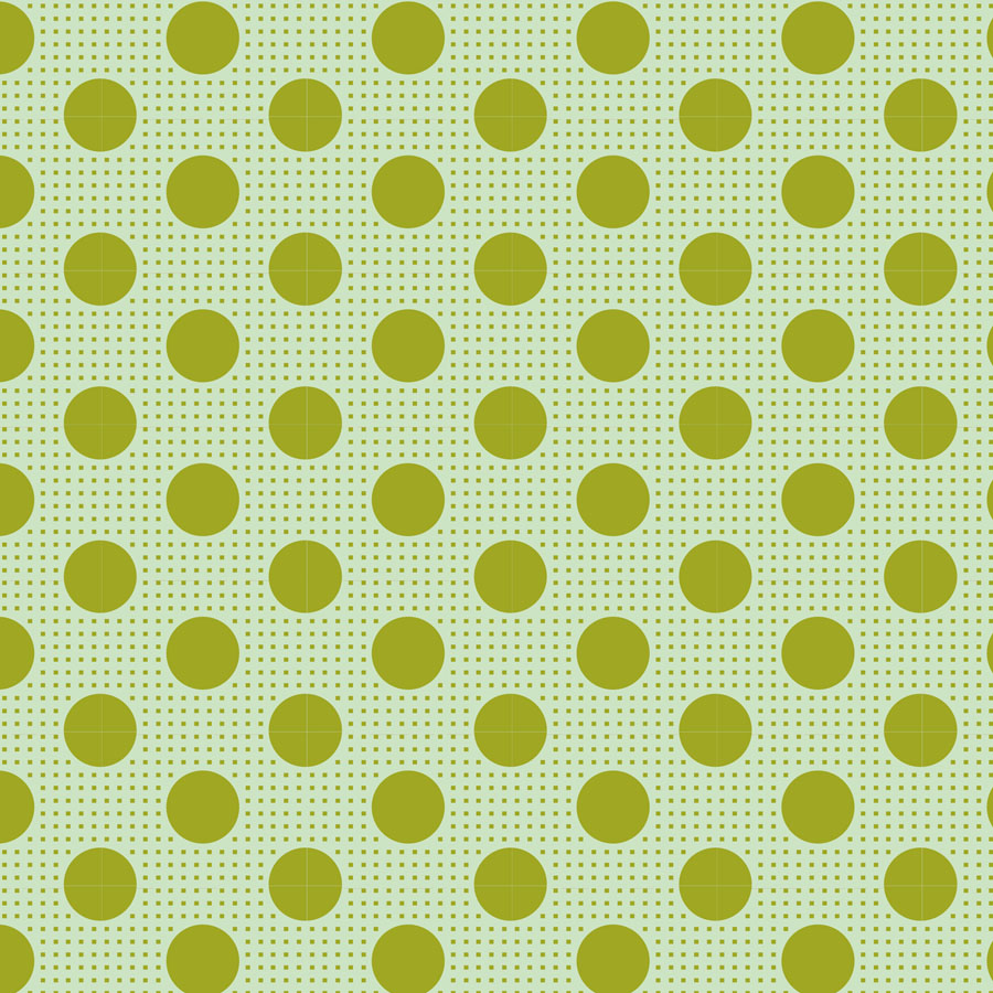 Classic Basics - Medium Dots Green