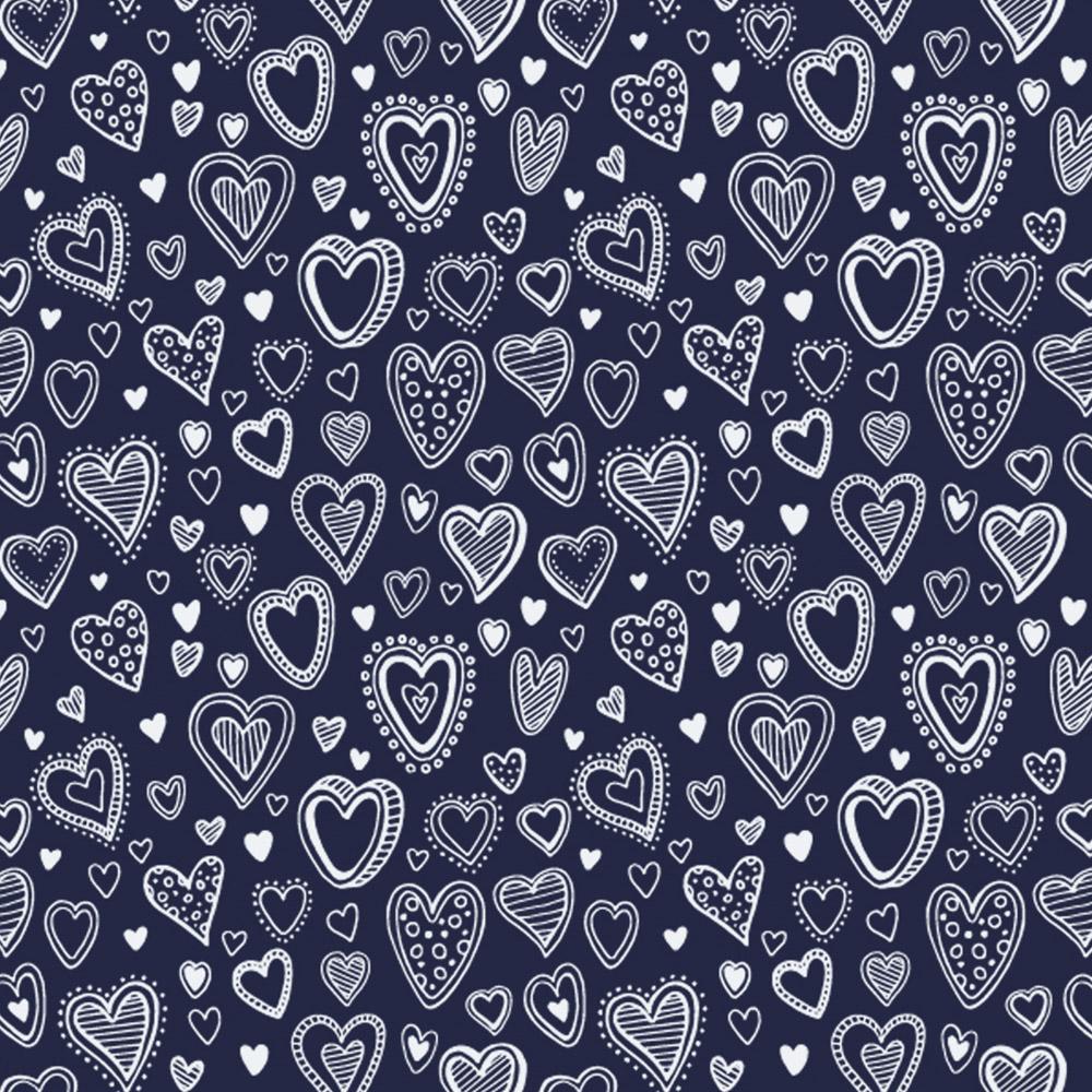 Basics and colors - multi corações marinho