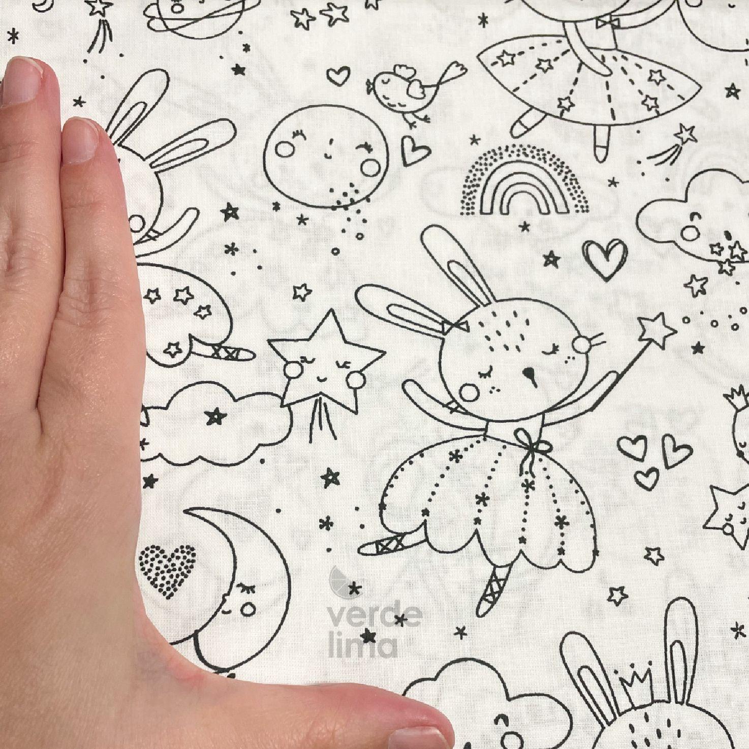 Fairy Rabbit - Black and white